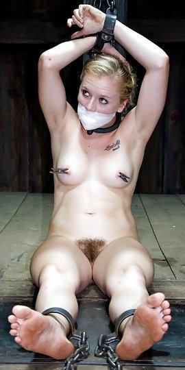 Naked girls in cuffs